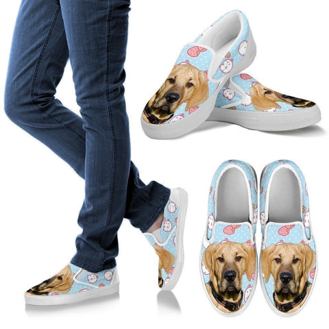 Broholmer Dog Print Slip Ons For Women-Express Shipping
