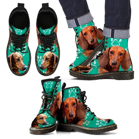 Paws Print Dachshund Boots For Men-Limited Edition-Express Shipping