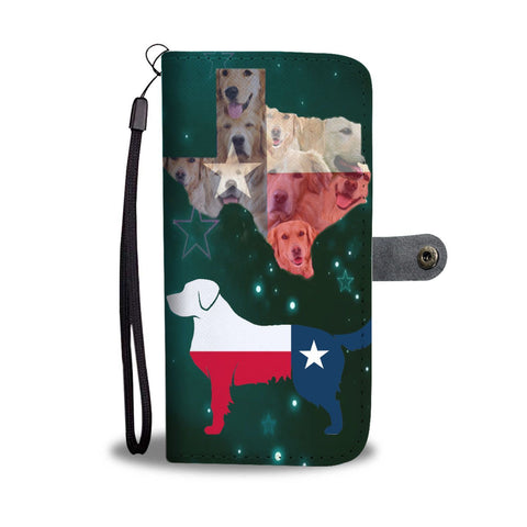 Golden Retriever In Lots Print Wallet Case-Free Shipping-TX State