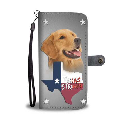 Cute Golden Retriever Print Wallet Case- Free Shipping-TX State