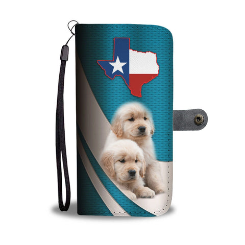 Cute Golden Retriever Puppies Print Wallet Case-Free Shipping-TX State