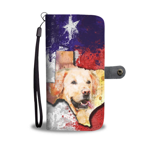 Labrador Dog Watercolor Art Print Wallet Case-Free Shipping-TX State