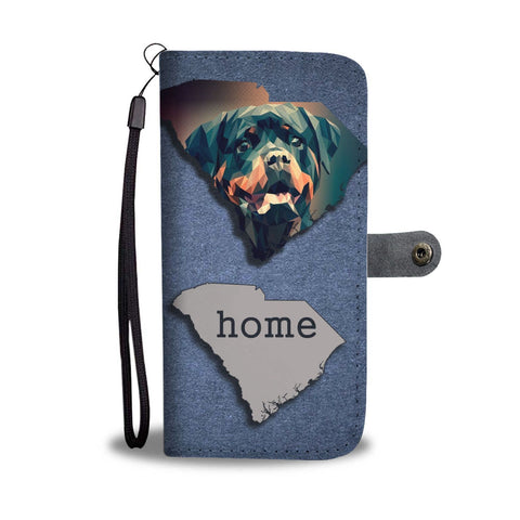Rottweiler Dog Vector Art Print Wallet Case-Free Shipping-SC State