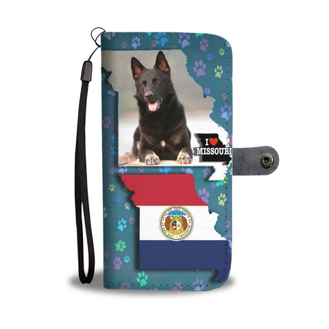 German Shepherd Dog Print Wallet Case-Free Shipping-MO State