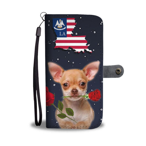 Chihuahua Dog Print Wallet Case-Free Shipping-LA State
