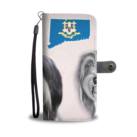 Bearded Collie Print Wallet Case-Free Shipping-CT State