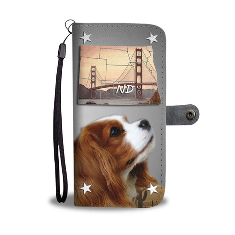 Cavalier King Charles Spaniel Print Wallet Case- Free Shipping-ND State