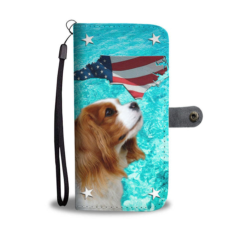 Cavalier King Charles Spaniel Print Wallet Case-Free Shipping-NC State