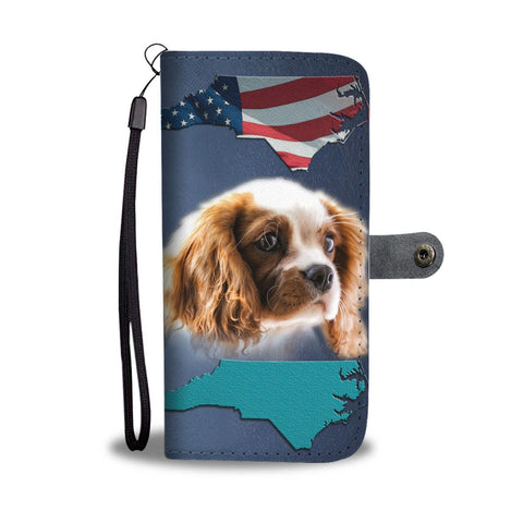 Cute Cavalier King Charles Spaniel Print Wallet Case-Free Shipping-NC State