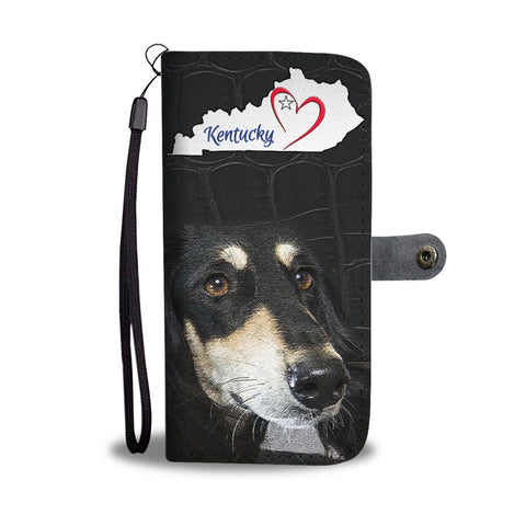Saluki Dog Print Wallet Case-Free Shipping-KY State