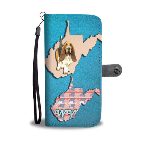Basset Hound Dog Print Wallet Case-Free Shipping-WV State