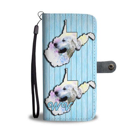 Golden Retriever Dog Art Print Wallet Case-Free Shipping-WV State