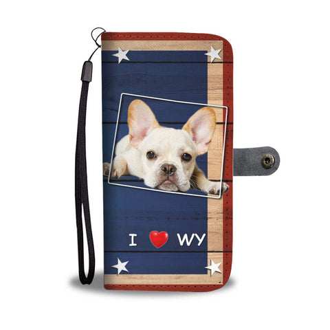 Amazing French Bulldog Print Wallet Case-Free Shipping-WY State