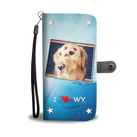 Golden Retriever Print Wallet Case-Free Shipping-WY State