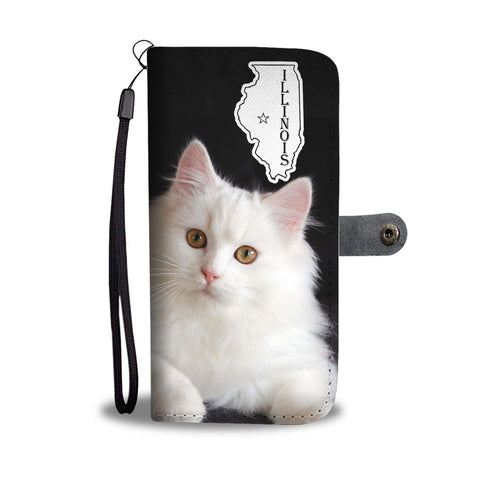 Persian cat Print Wallet Case-Free Shipping-IL State