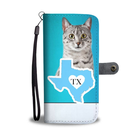 Amazing Egyptian Mau Cat Print Wallet Case-Free Shipping-TX State