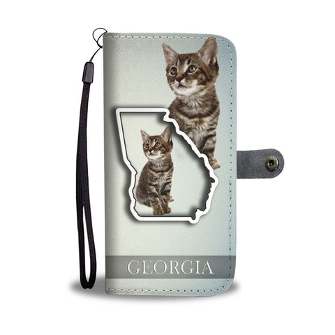 Manx cat Print Wallet Case-Free Shipping-GA State