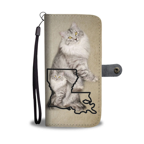 Siberian Cat Print Wallet Case-Free Shipping-LA State