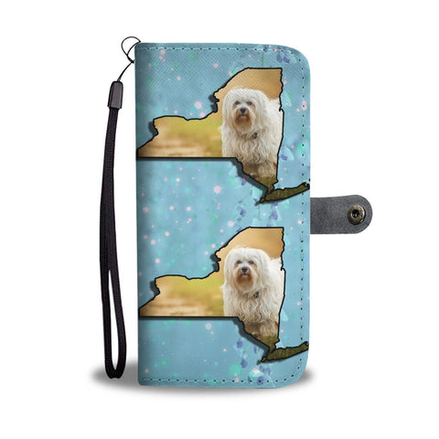 Havanese Dog Print Wallet Case-Free Shipping-NY State