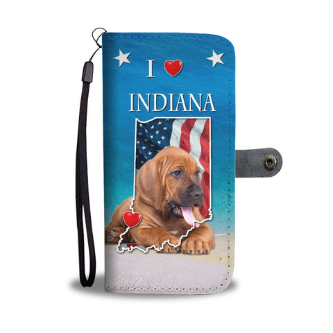Bloodhound Print Wallet Case-Free Shipping-IN State