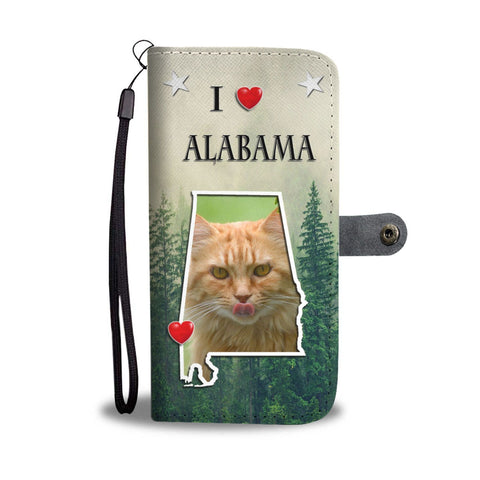 Maine Coon Cat Print Wallet Case-Free Shipping-AL State