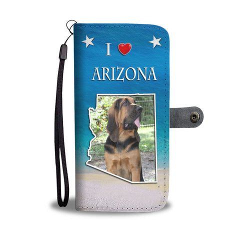 Cute Bloodhound Print Wallet Case-Free Shipping-AZ State