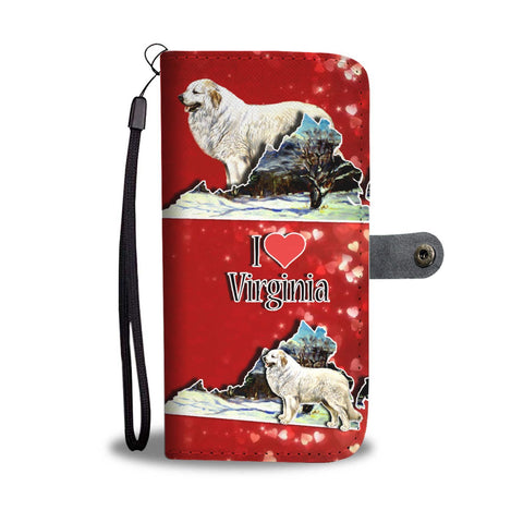 Great Pyrenees Dog Art Print Wallet Case-Free Shipping-VA State