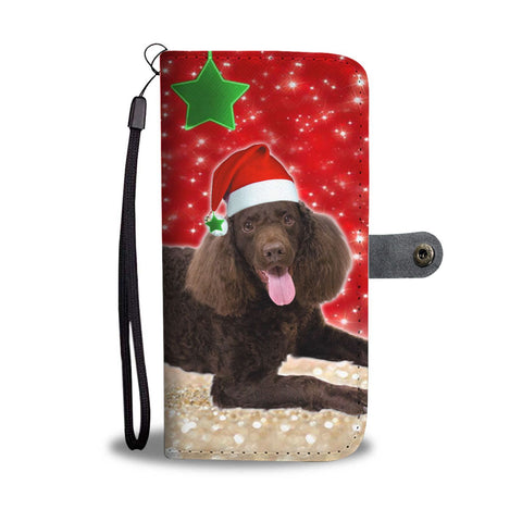 American Water Spaniel On Christmas Print Wallet Case-Free Shipping