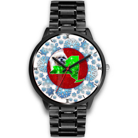 Cute Shih Tzu Dog New York Christmas Special Wrist Watch-Free Shipping