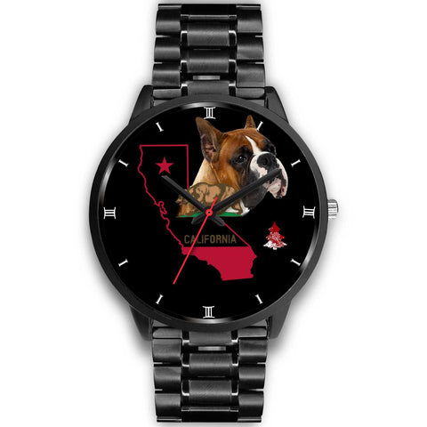 Boxer Dog California Christmas Special Wrist Watch-Free Shipping