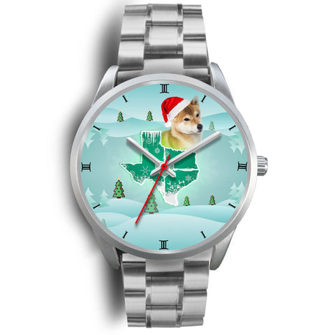 Shiba Inu Dog Texas Christmas Special Wrist Watch-Free Shipping