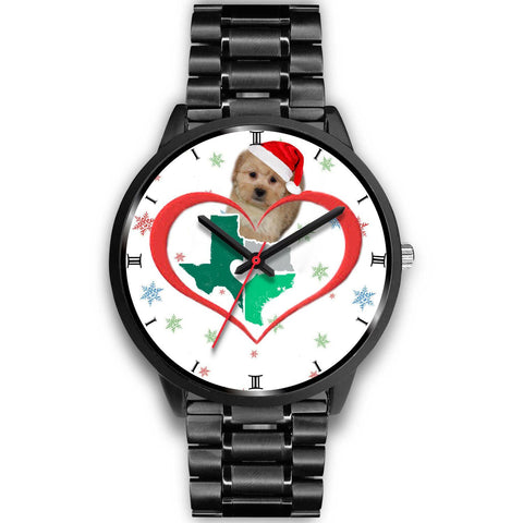 Shih Poo Dog Texas Christmas Special Wrist Watch-Free Shipping