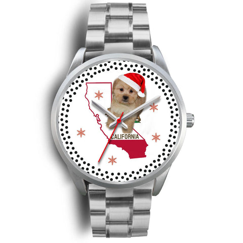 Shih Poo Dog California Christmas Special Wrist Watch-Free Shipping