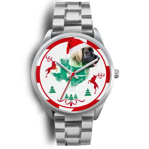 Leonberger Dog Texas Christmas Special Wrist Watch-Free Shipping