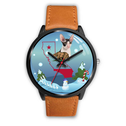 Cornish Rex Cat California Christmas Special Wrist Watch-Free Shipping