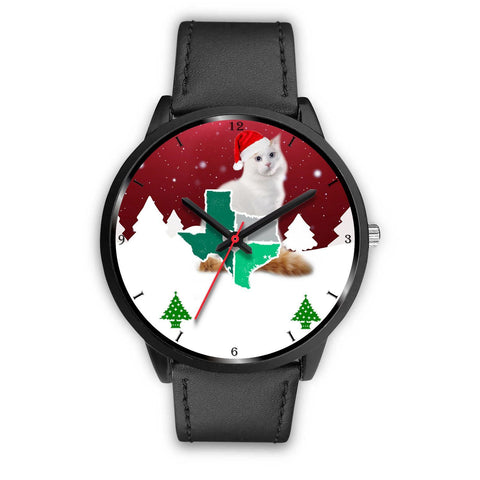 Turkish Van Cat Texas Christmas Special Wrist Watch-Free Shipping
