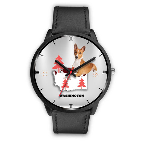 Basenji Dog Washington Christmas Special Wrist Watch-Free Shipping