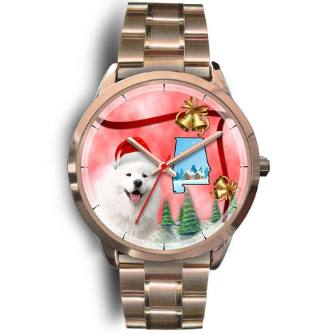 Samoyed Dog Alabama Christmas Special Wrist Watch-Free Shipping