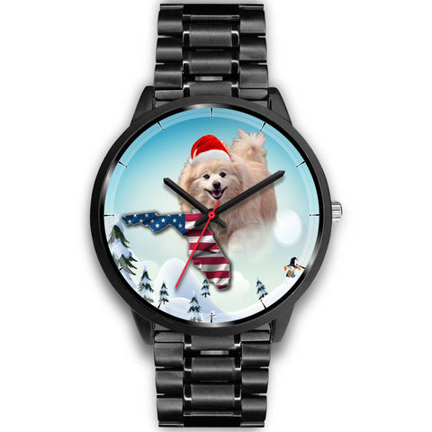 Cute Pomeranian Florida Christmas Special Wrist Watch-Free Shipping