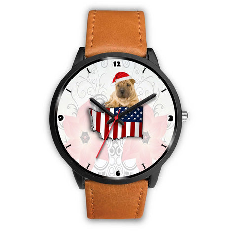 Shar Pei Dog Washington Christmas Special Wrist Watch-Free Shipping