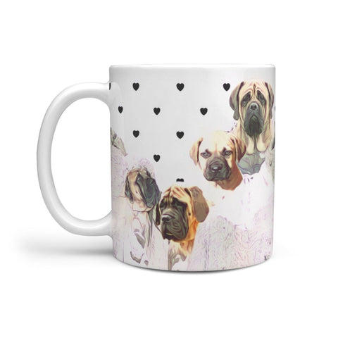 English Mastiff Mount Rushmore Print 360 White Mug