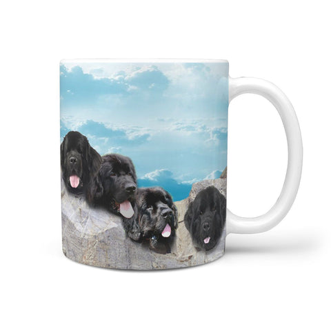 Amazing Newfoundland Dog Mount Rushmore Print 360 White Mug