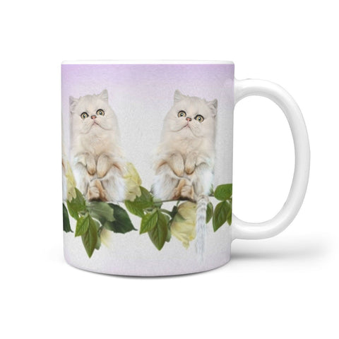 Persian Cat Print 360 White Mug