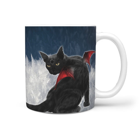 Bombay Cat Print 360 White Mug