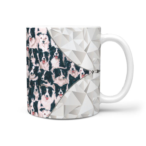 Border Collie Dog In Lots Print 360 Mug