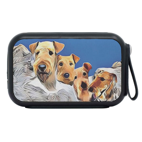 Airedale Terrier Mount Rushmore Print Bluetooth Speaker
