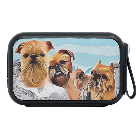 Brussels Griffon Mount Rushmore Print Bluetooth Speaker