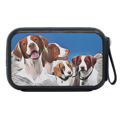 Brittany dog Mount Rushmore Print Bluetooth Speaker