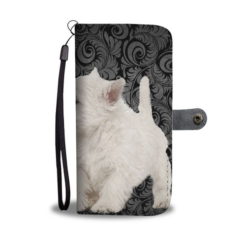 Lovely West Highland White Terrier Dog Print Wallet Case-Free Shipping