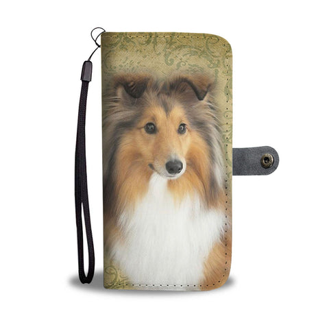 Shetland Sheepdog Print Wallet Case- Free Shipping